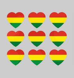 heart with the flag of bolivia i love bolivia vector image