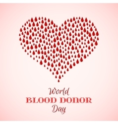 Red Drops of Blood in Shape of Heart vector image vector image