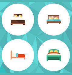 Flat set of furniture bearings mattress an vector