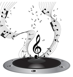 music staff vector image