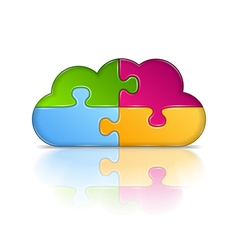 Puzzle Cloud vector image vector image