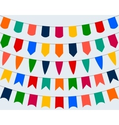 Collection of festive decorative flags for the vector image vector image