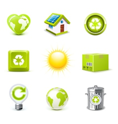 ecology icons 1 - bella series vector image vector image