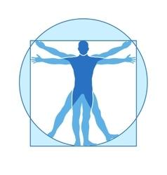 Human body icon of vitruvian man vector image