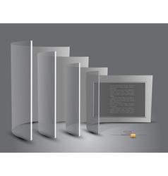 Transparent Panels vector image