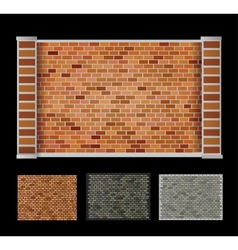 Wall of bricks vector image
