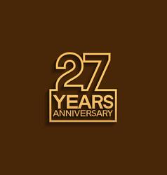 27 years anniversary design line style vector