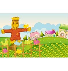 a farm vector image vector image