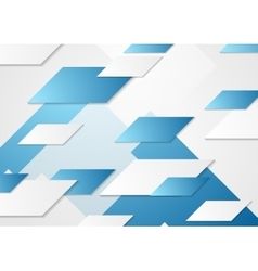 Abstract tech corporate blue background vector