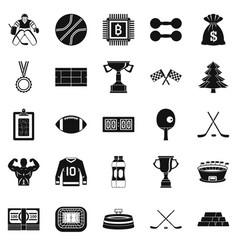 athlete salary icons set simple style vector image