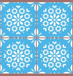 Azulejo tiles seamless pattern inspired vector