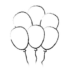 Balloons air party decoration vector