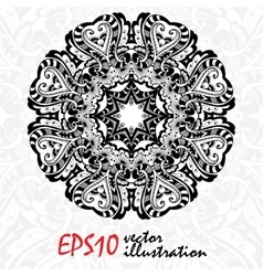 Beautiful Decor Mandala Abstract Object vector image