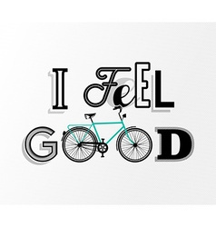 Bike concept bicycle motivation retro text poster vector