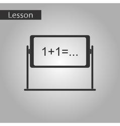 Black and white style icon of school blackboard vector