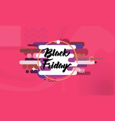 Black friday - geometric shapes background vector