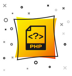 black php file document icon download php button vector image