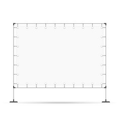 blank advertising stand banner vector image