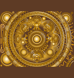 bronze ornament maya vector image