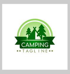 camping logo vector image