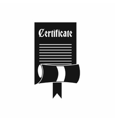 Certificate icon in simple style vector image