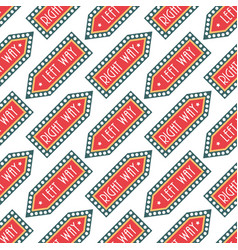 circus vintage signboard labels seamless pattern vector image
