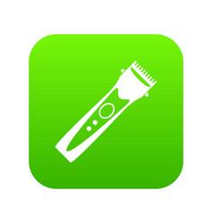 clipper icon digital green vector image