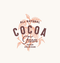 cocoa bean farm abstract sign symbol or vector image
