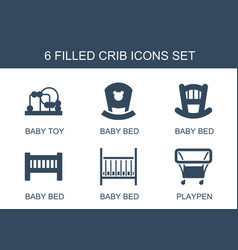 Crib icons vector