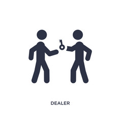 Dealer icon on white background simple element vector