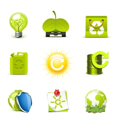 ecology icons 2 - bella series vector image