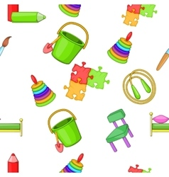 Education of child pattern cartoon style vector