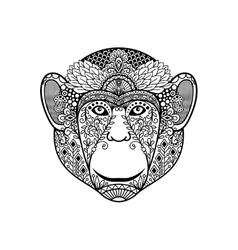 Entangle monkey head vector