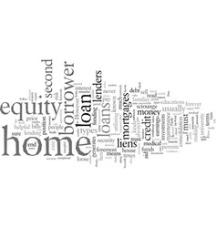 Equity loan for your home vector