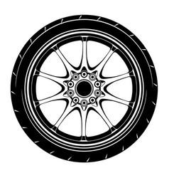 Flat car wheel 6 vector