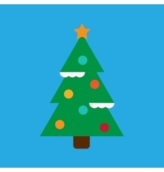 Flat icon on stylish background Christmas tree vector