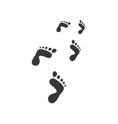Foot step design abstract sign vector