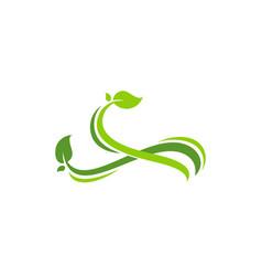 Fresh leaf ornament nature leaf logo template vector