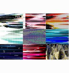 glitch background glitchy abstract texture vector image