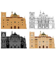 Granada cathedral in spain europe vector