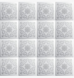 Grayscale seamless texture square tile with spiral vector