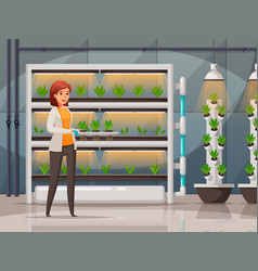 Greenhouse farming technology background vector