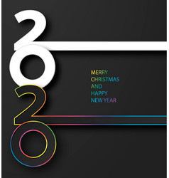 happy new year 2020 banner with luxury colored vector image