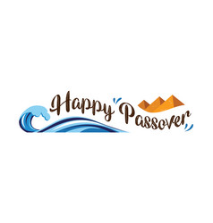 happy passover abstract banner vector image
