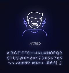 Hatred neon light icon vector