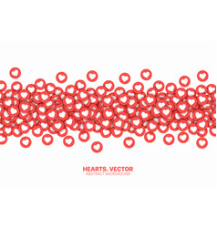hearts red flat icons love symbol isolated on vector image