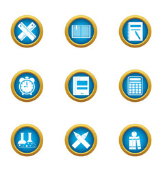 Hydrochemical icons set flat style vector