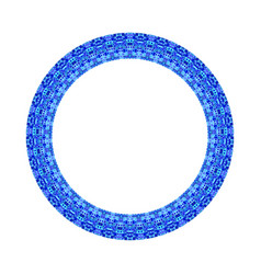 Isolated mosaic circular frame - ornamental vector
