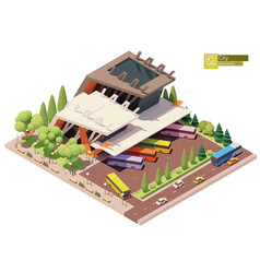 Isometric bus terminal or station vector