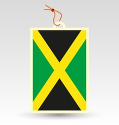 Jamaican made in tag vector